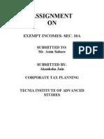 Ctp Assignment, Akanksha Jain, 05817003909, Mba