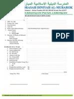 formulir pendaftaran santri baru