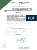 Convocatoria de Claustro Ordinario y Extraordinario 29 Ene 2019