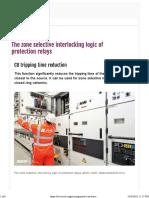 EEP - The Zone Selective Interlocking Logic of Protection Relays
