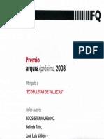 08 | Premio ARQUIA 2008. Fundación caja de arquitectos. | Ecoboulevard |Spain