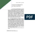 Christophe Parisse, 2002, Le débat inné-acquis et le développement du langage à l'aube du 21ème siècle