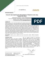 Extractive spectrophotometric determination of ulipristal acetate using naphthol blue black