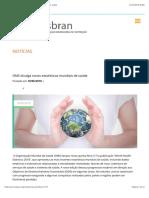 Asbran - OMS divulga novas estatísticas mundiais de saúde