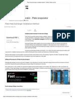 Plate Heat Exchanger Installation Method - Method Statement HQ