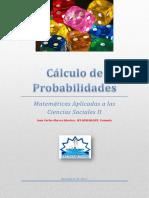 Apuntes de Cálculo de Probabilidades. Curso 2017_2018