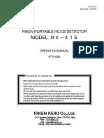 Manual Rx 415