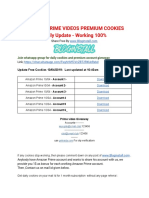 Amazon Prime Videos Premium Cookies Daily Update - Working 100%