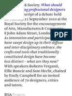 What Should We Be Teaching Professional Designers? - transcript of debate