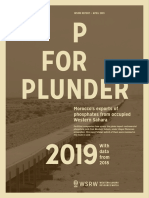 P for Plunder  2019 - with data from 2018