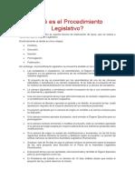 Qué Es El Procedimiento Legislativo