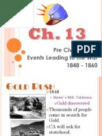 chapter 13 - pre civil war era