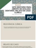 Reimplante Dentário Para o Tratamento de Avulsão Dentária [Salvo Automaticamente]