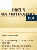 Focus on Motivation