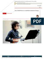 A Negative Critic for Bob Dylan's Nobel