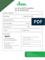 Ficha de Inscripcion Ciemam