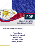 Readings in the Philippine History Presentation