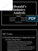 McDonald's Industry Analysis.ppt