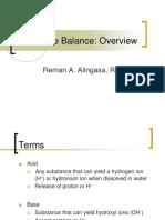 Acid Base Overview