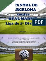 Jesús Sarcos - ESPANYOL DE BARCELONA contra  REAL MADRID  Liga de 1ª División