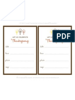 Celebrate Thanksgiving Printables - by anna and blue paperie