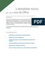 Habilitar o deshabilitar macros en archivos de Office.docx