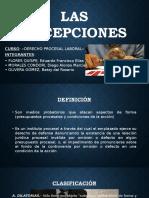 Las Excepciones Derecho Procesal Laboral