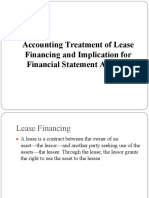 Accounting Treatment of Lease Financing