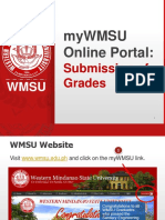 WMSU-ESU - Online Submission of Grades