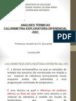 Métodos de Caracterização de Materiais Dsc Final