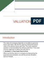 DCF and Multiple Based Valuation Dividend FCF