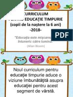 Curriculum Prescolar 2018