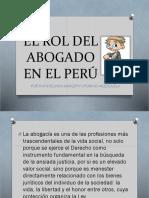 El Rol Del Abogado en El Peru