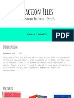 fraction tiles manipulative portfolio - entry 5