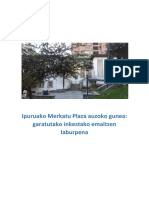 Ipuruako Merkatu Plaza Auzoko Gunerako Inkestaren Emaitzak