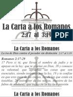 3) La Carta a Los Romanos 2.17 - 3.19
