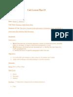 unit lesson plan 3- math party