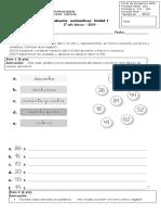 Evaluaciòn Matematicas 2 Basico