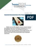 TechCorner 12 - Temperature Measurement Basics
