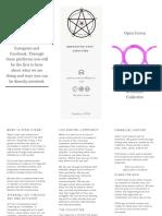 Open Coven Brochure Samhain 2018