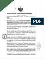 Acuerdo Regional 16-2019 GRA-CR-AQP