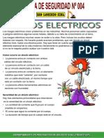 Charla de Seguridad N° 004 Riesgos Electricos