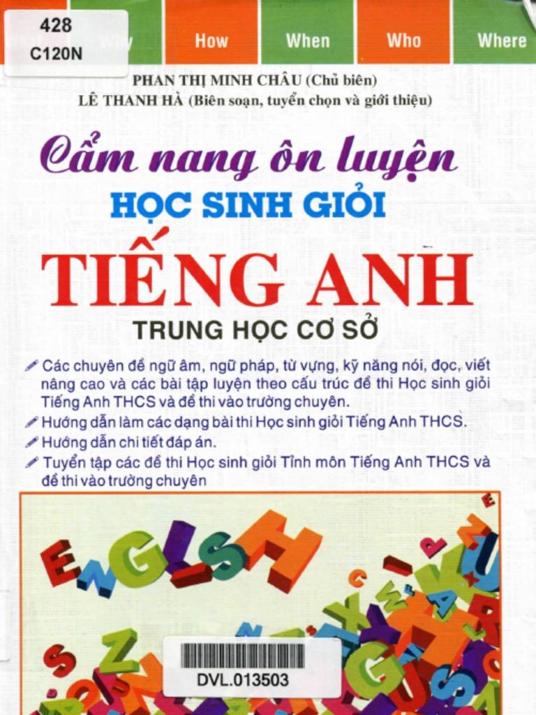 """Cẩm Nang """"n Luyá ‡n Há c Sinh Giá i Tiếng Anh THCS Phan Thá ‹"""