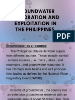 Groundwater Exploration and Exploitation in the Philippines