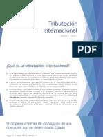 Tributación Internacional - 1