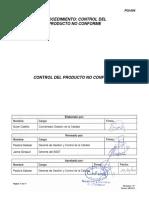 PGI-004 Rev. 3 Control Del Producto No Conforme