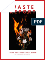 "Dr. Paul's Spring 2019 ""Waste in Full Bloom"" Edition of ""The Waste Report"""