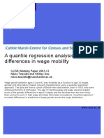 Quantile Regression Analysis of Gender Differences in Wage Mobility