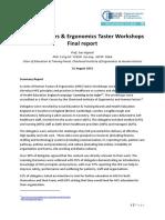 Human Factors and Ergonomics Taster Workshops Report