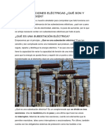 Las Subestaciones Eléctricas